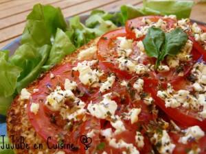 Bruschetta tomate & feta (Dukan)