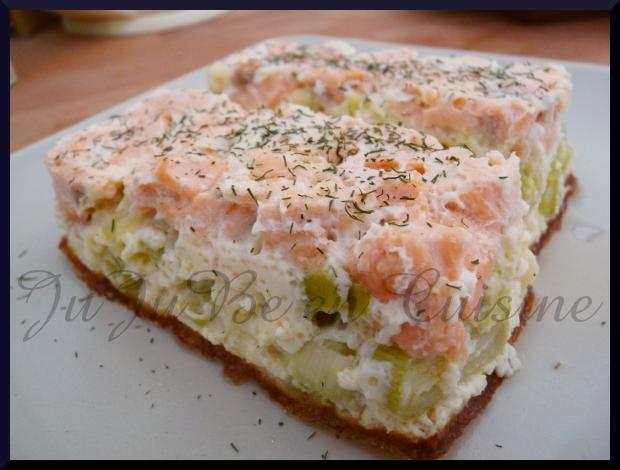 Cake Saumon Blancs De Poireau