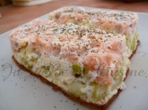 Flan saumon & poireau (recette légère)
