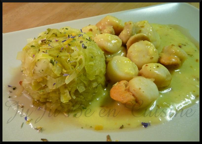 Dome de poireaux st jacques curry dukan jujube en - Noix de saint jacques curry ...