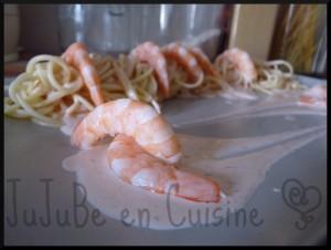 Délice de spaghetti aux crevettes