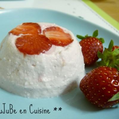 Crème de brousse aux fraises