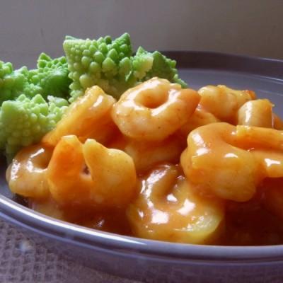 Crevettes curry & coco