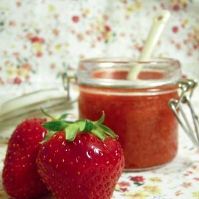 Coulis de fraises, tout doux, tout léger…