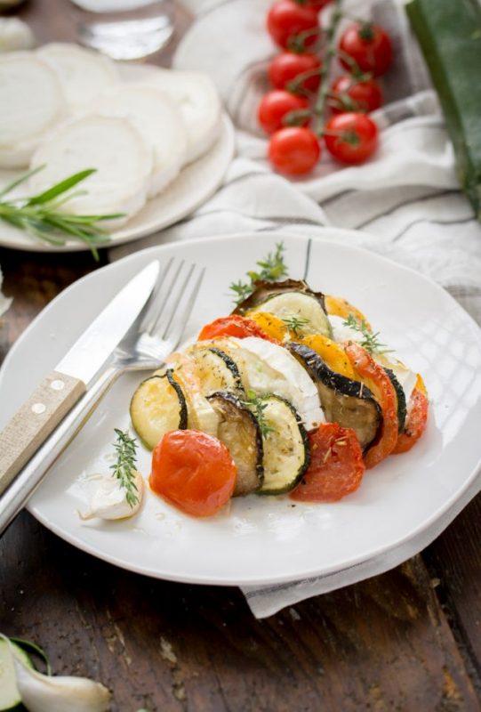 Tian de légumes du soleil version avec fromage de chèvre | Jujube en cuisine