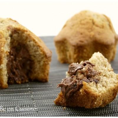 Mandises ou muffins ultra moelleux au coeur fondant de noisette