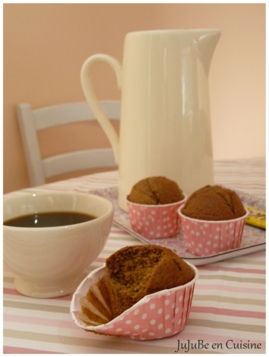 Muffins au café – chicorée (Ricoré), farine de châtaignes et purée d'amandes complètes