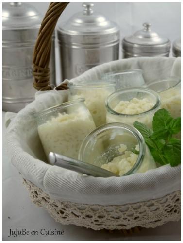 Riz au lait à la menthe (feuilles de menthe cristallisées)