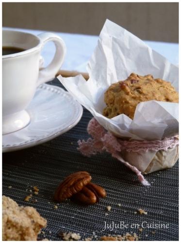 Muffins avoine, sirop d'érable et noix de pécan