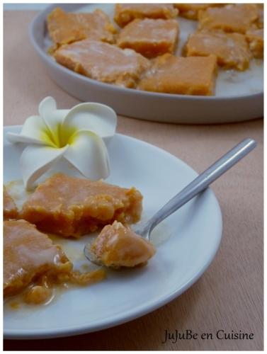 Po'e à la patate douce (gourmandise tahitienne)