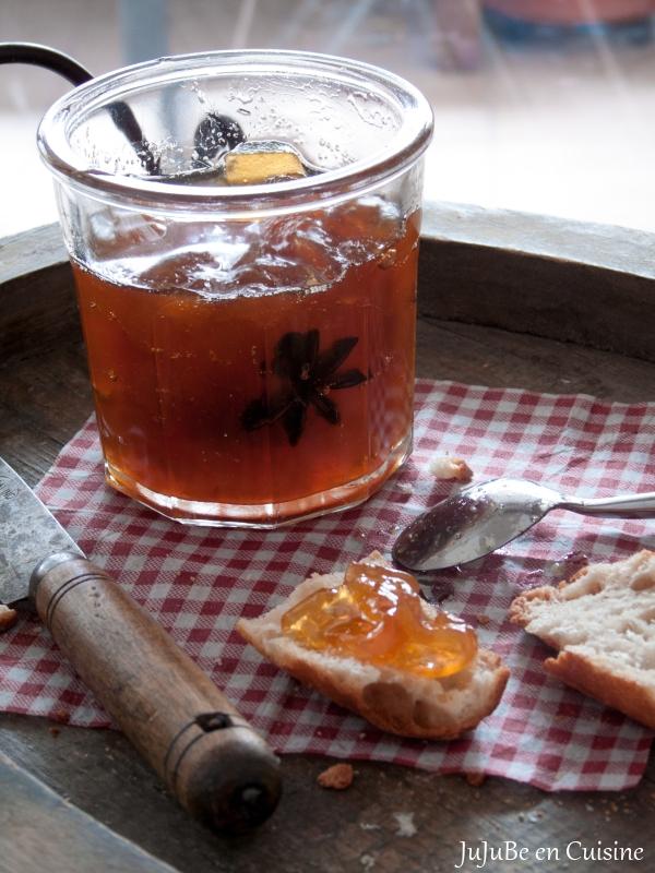 Confiture de citre rhum, vanille et badiane
