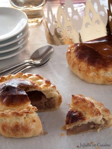 Pithiviers feuilleté ou galette des rois à la crème d'amande et crème de marrons