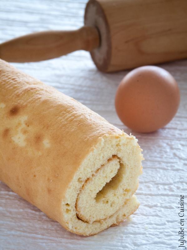 Biscuit roulé façon génoise pour gâteau roulé ou bûche de Noël (sans beurre)