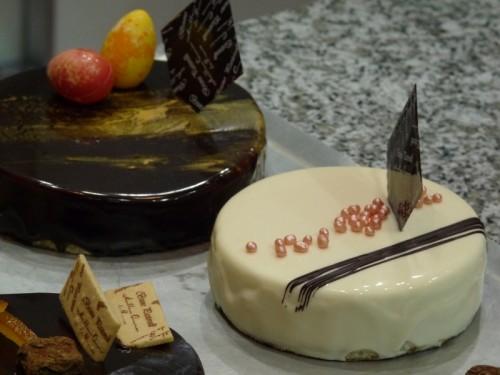 Suite à une démo sur les nappages au chocolat par Jean-François Langevin, MOF, pour laquelle je suis malheureusement arrivé trop tard...