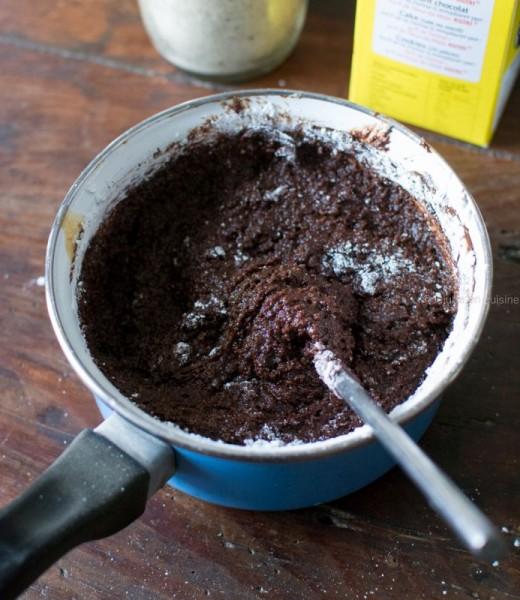 Brownie aux noix (sans lactose, sans gluten et sans oeufs - vegan) | Etape 3 | Jujube en cuisine
