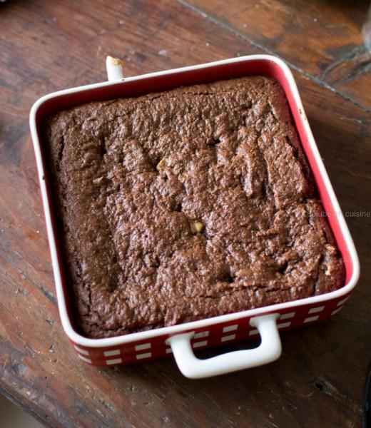 Brownie aux noix (sans lactose, sans gluten et sans oeufs - vegan) | Etape 7 | Jujube en cuisine