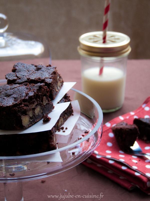 brownie aux noix sans lactose sans gluten et sans oeufs vegan jujube en cuisine. Black Bedroom Furniture Sets. Home Design Ideas
