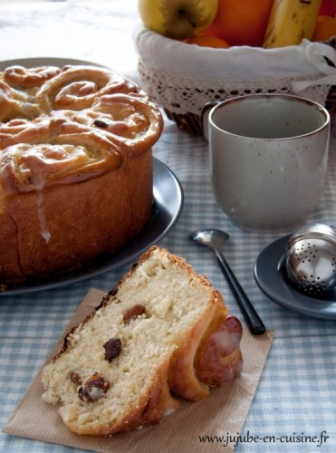 Chinois : brioche à la crème pâtissière (Schneckenkuchen)