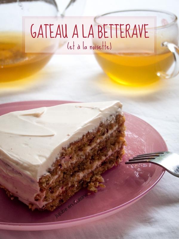 Beet cake - gâteau à la betterave (et à la noisette)