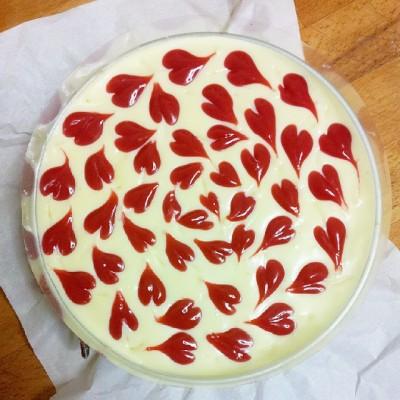 cheesecake coeurs framboise