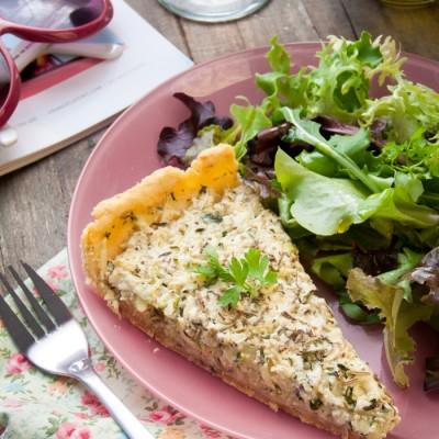 Tarte à la courgette – 100% végétale (sans oeuf, sans lactose)