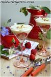 Verrines aux fraises palmito et tofu soyeux à l'amande