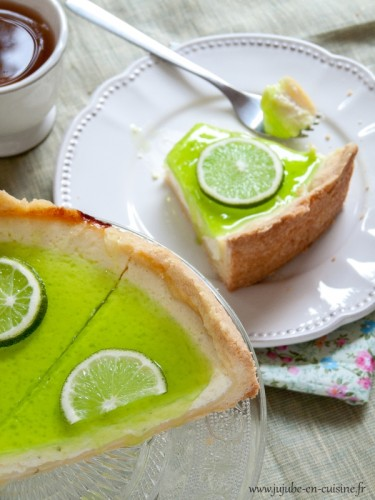 Cheesecake citron, citron vert et son coulis aux deux citrons et verveine