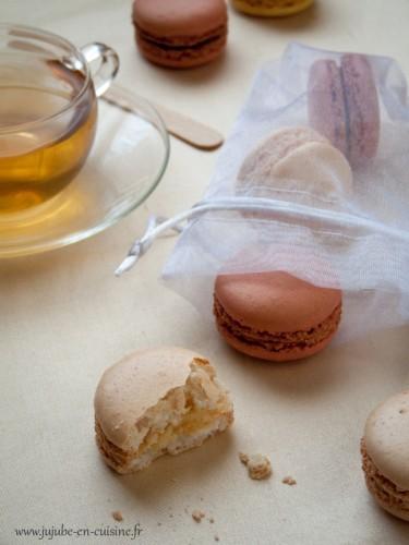Macarons à la vanille et macarons à la framboise