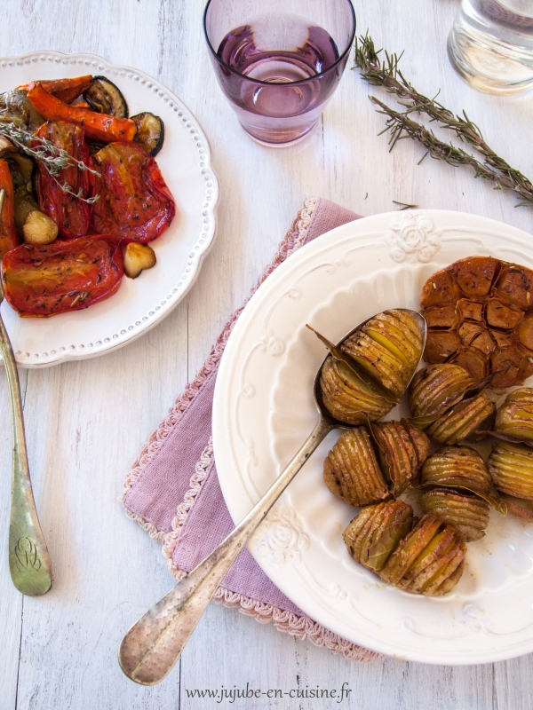 Légumes rôtis, au vinaigre balsamique et herbes aromatiques