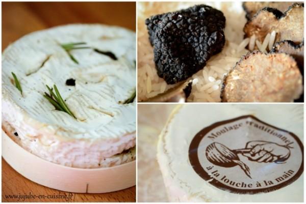Camembert rôti (piqué à la truffe, ail et romarin)