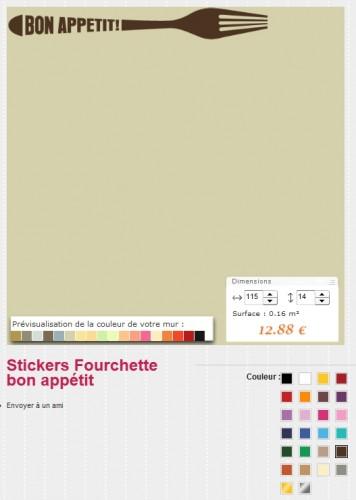 Les choix de couleurs sur Pop Stickers