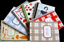Les différents livres de cahier de cuisine