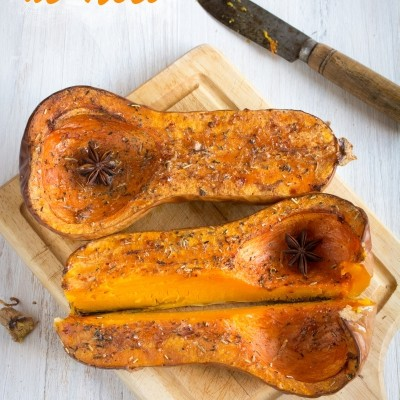 Butternut de Noël – rôtie aux épices – inspirée par Jamie Oliver
