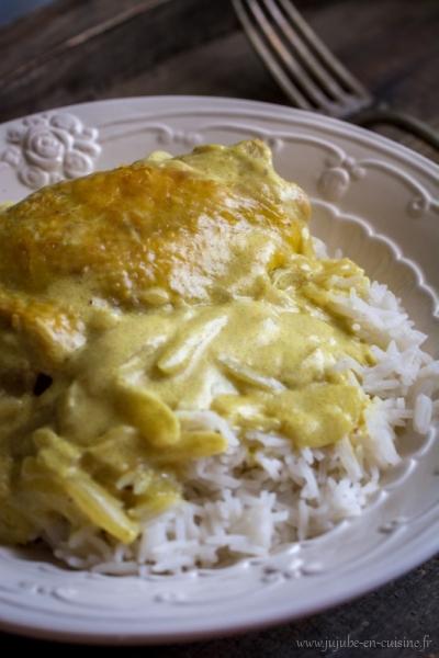 Curry de poulet à la crème de coco