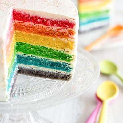 Un autre rainbow cake sur la toile