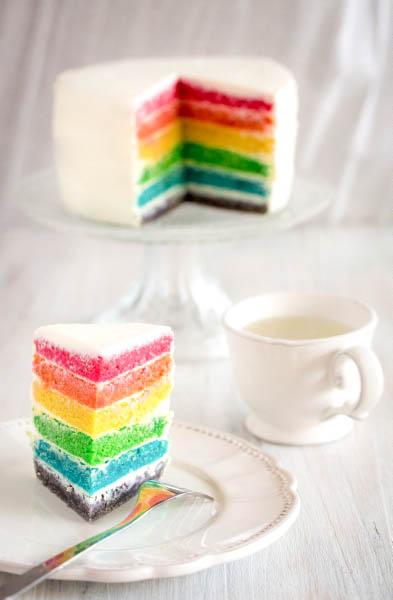 Rainbow cake (sans œuf)