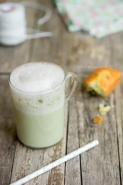 Matcha tea latte soja