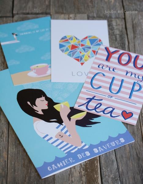 Le cahier des saveurs et les cartes postales