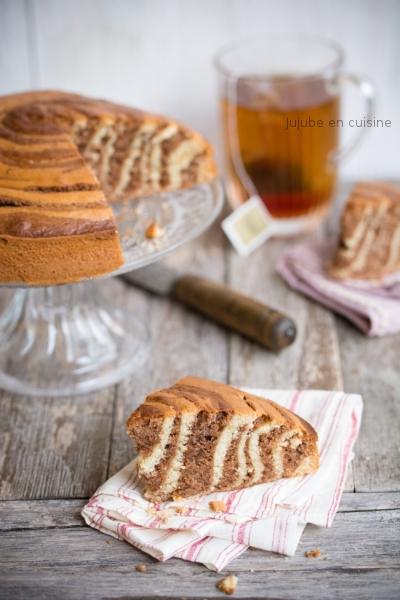 Gâteau zébré (à la pâte à tartiner)