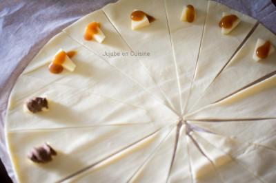 Croissant fourrés - Découpage & Garniture