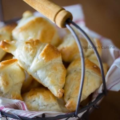 Petits croissants fourrés (Le goûter rapide)