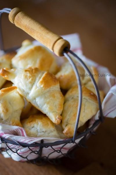 Petits croissants fourrés pour le goûter