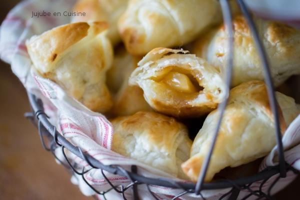 Croissants fourrés pomme et caramel beurre et fleur de sel