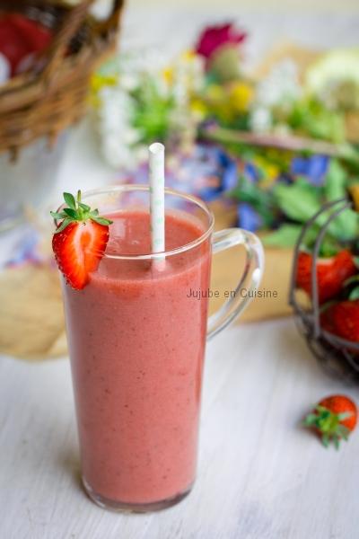 Smoothie à la fraise