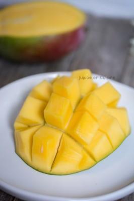 Comment couper une mangue ? | La mangue préparée, prête à déguster | Jujube en cuisine