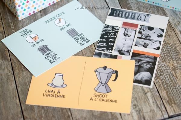 Les cartes postales La Thé Box par Le Tone