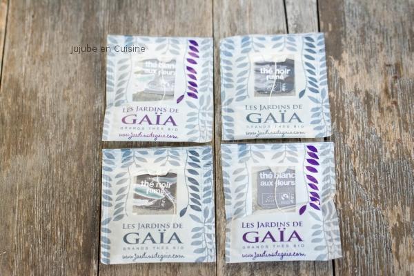 Thé noir fumé et thé blanc fleuri - Les jardins de Gaïa