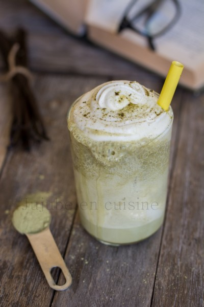 Frappuccino au thé vert matcha et chantilly maison