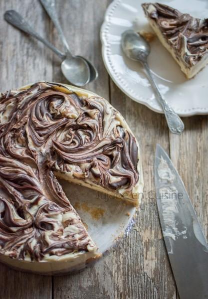 Cheesecake aux deux chocolat (chocolat blanc et chocolat noir)