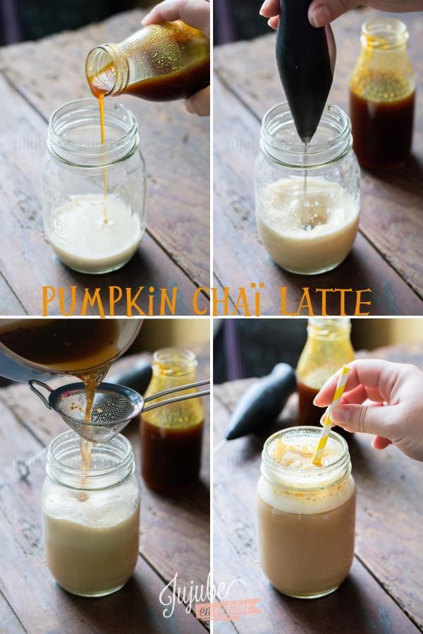 Pumpkin chaï latte (soja)